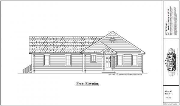 ss-8509r-1 1 bedroom 1 bathroom ranch house plan