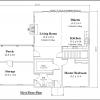 ss-8509r-2 1 bedroom 1 bathroom ranch house plan
