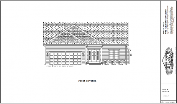 ss-9467r-1 2 bedroom 2 bathroom ranch house plan