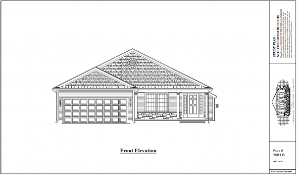 ss-9684r-1 2 bedroom 2 bathroom ranch house plan