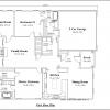 ss-9798r-2 2 bedroom 2 bathroom ranch house plan