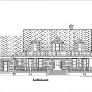ss-9833cp-1 3 bedroom 2 bathroom cape house plan